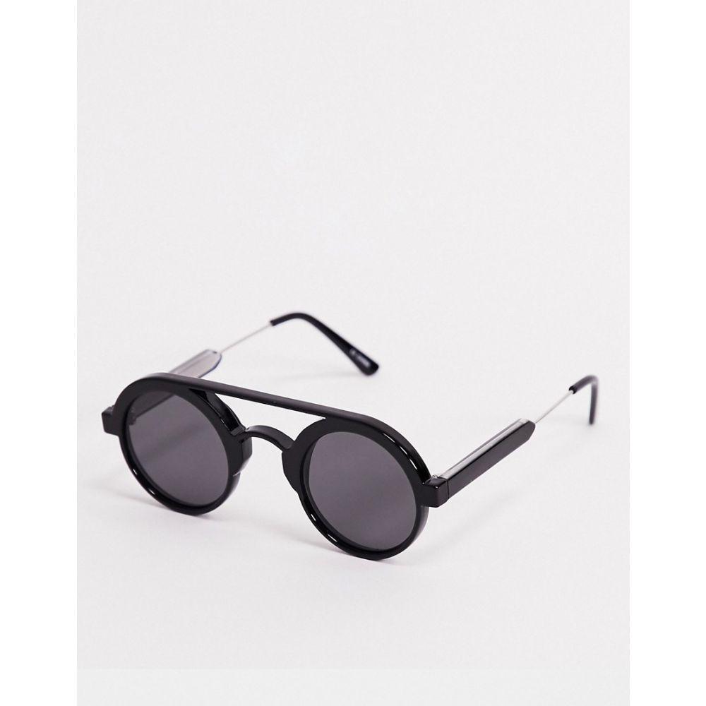 スピットファイア Spitfire メンズ メガネ・サングラス ラウンド【Ambient round sunglasses in black】Black