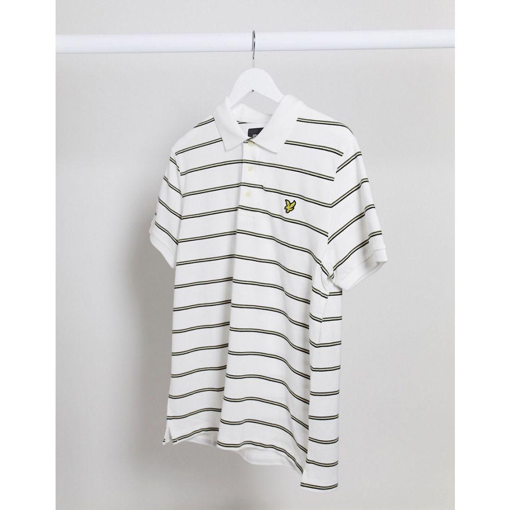 ライル アンド スコット Lyle & Scott メンズ ポロシャツ トップス【stripe polo shirt】White