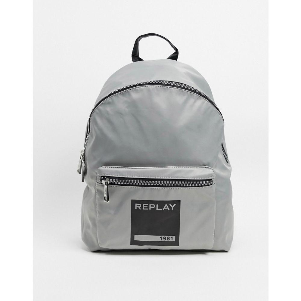 リプレイ Replay メンズ バックパック・リュック バッグ【logo backpack in grey】Grey