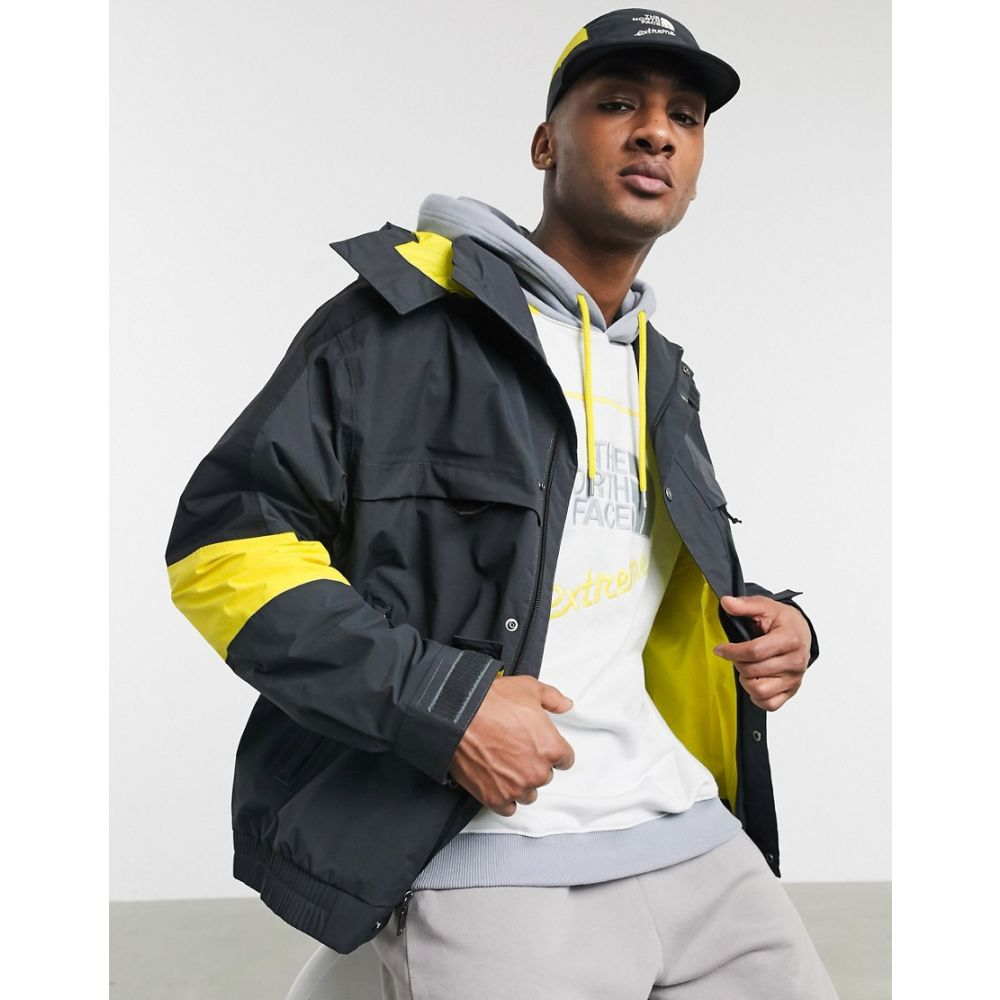 ザ ノースフェイス The North Face メンズ レインコート アウター【92 Extreme rain jacket in grey/yellow】Asphalt grey combo