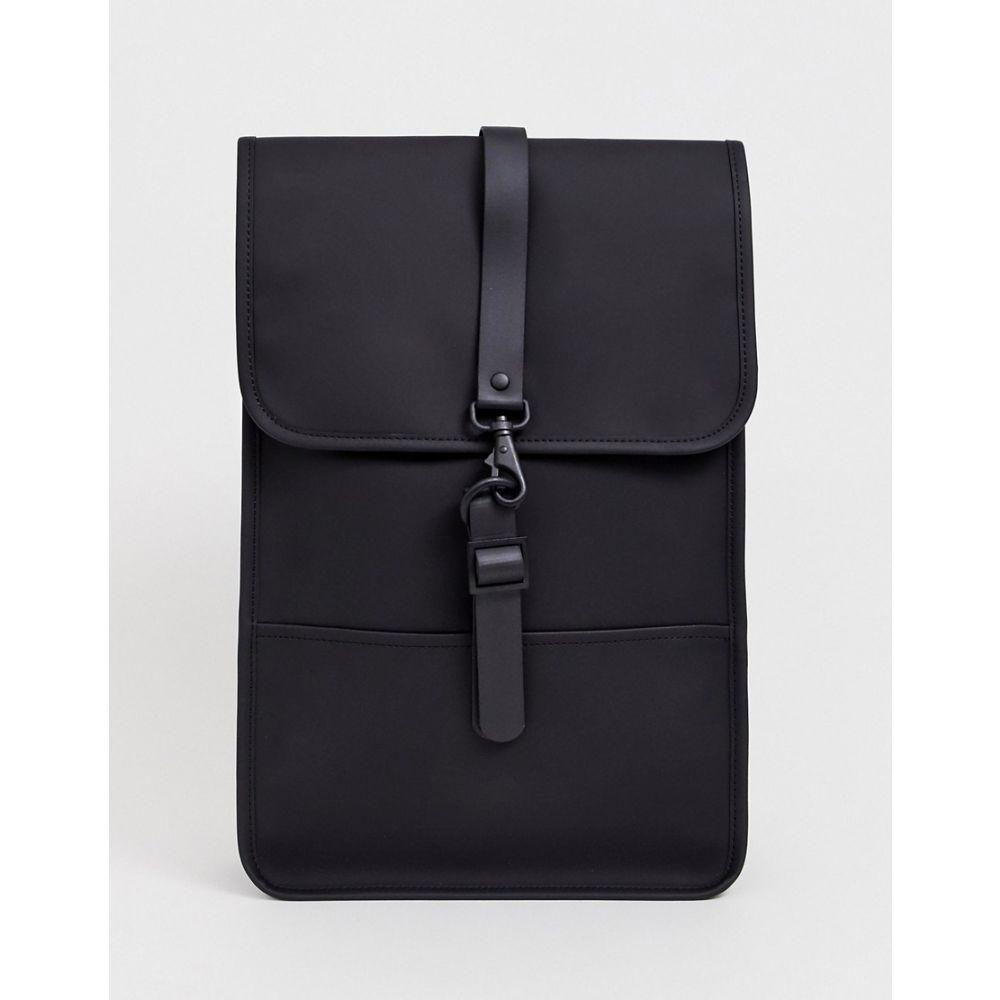 レインズ Rains メンズ バックパック・リュック バッグ【1280 mini waterproof backpack in black】Black