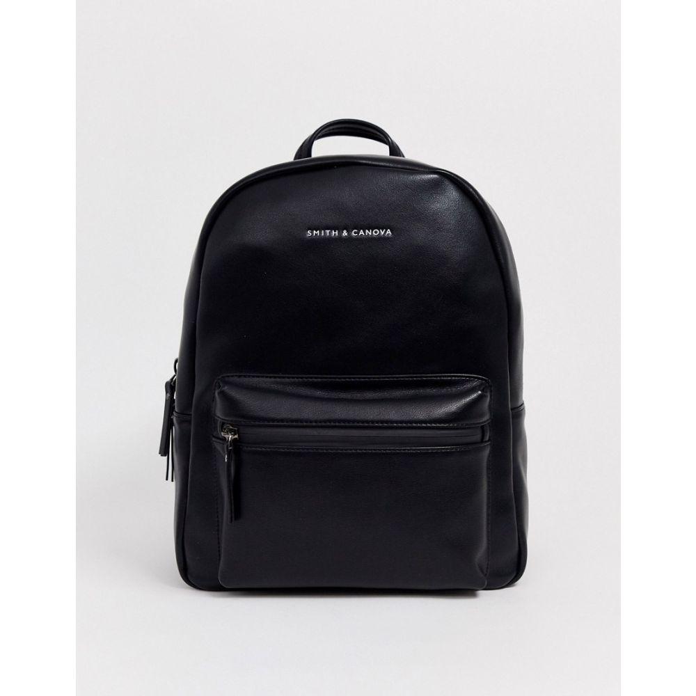 スミスアンドカノヴァ Smith And Canova メンズ バックパック・リュック バッグ【Smith & Canova leather backpack in black】Black