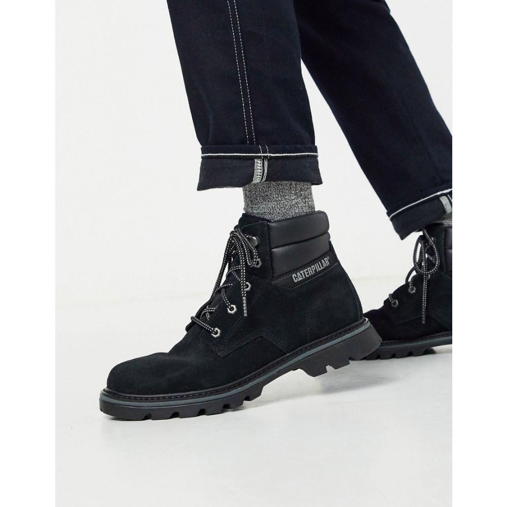 キャットフットウェア Cat Footwear メンズ ブーツ シューズ・靴【Caterpillar quadrate hiker boot in black】Black