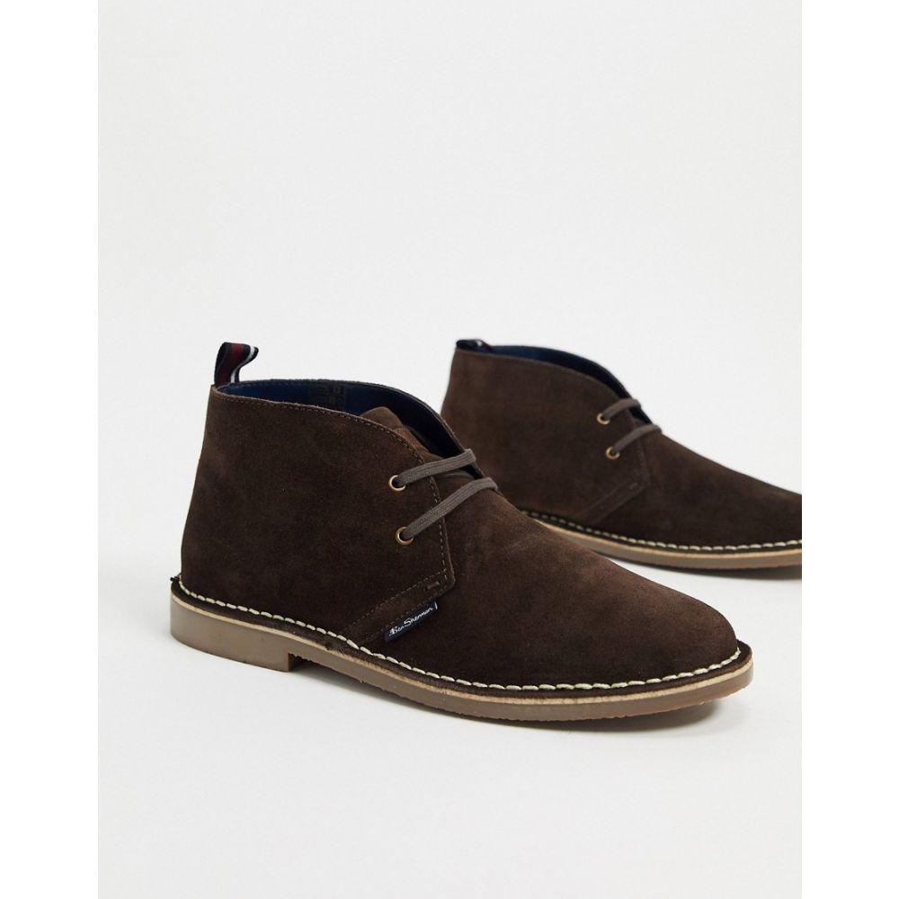 ベンシャーマン Ben Sherman メンズ ブーツ シューズ・靴【suede desert boots in brown】Dark brown