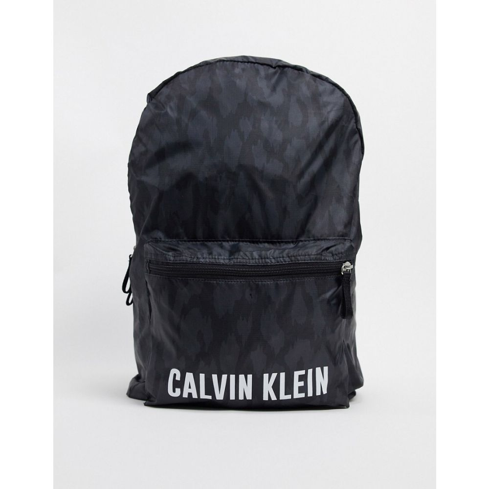 カルバンクライン Calvin Klein メンズ バックパック・リュック バッグ【performance logo backpack in black print】Black print