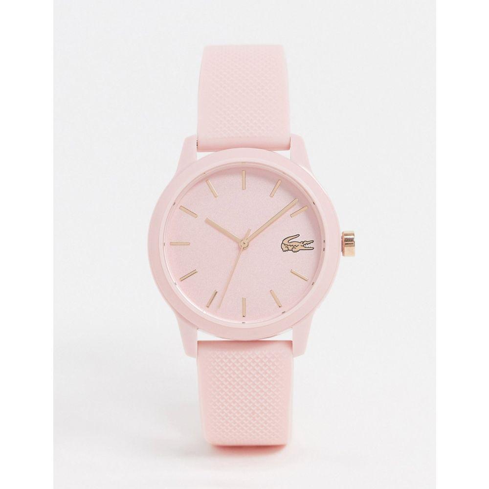 ラコステ Lacoste レディース 腕時計 【12.12 Silicone watch in pink】Pink