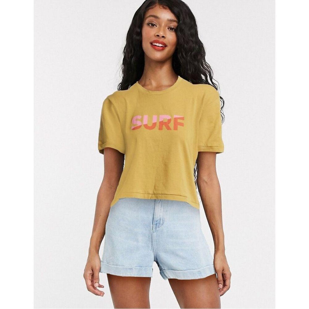 ビラボン Billabong レディース Tシャツ トップス【Surf oversized t shirt in yellow】Yellow