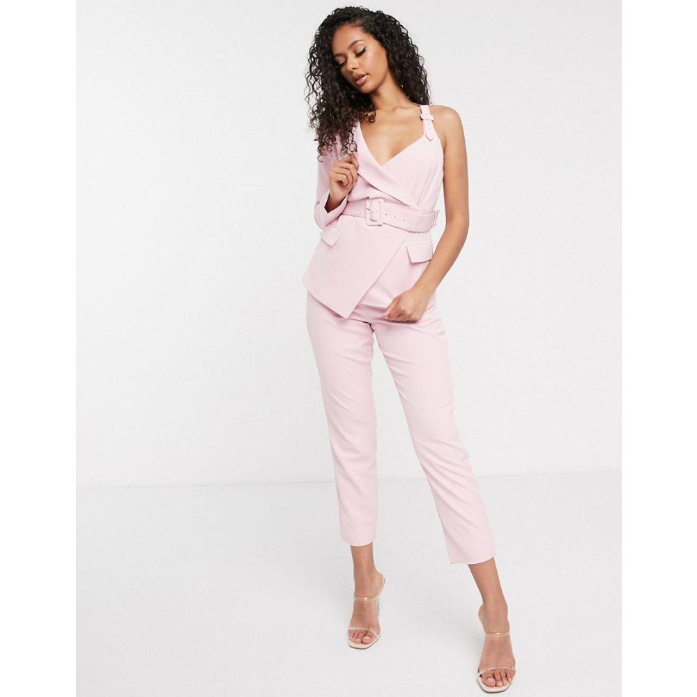 ラヴィッシュアリス Lavish Alice レディース ボトムス・パンツ 【high waisted tailored trousers in pink】Pink