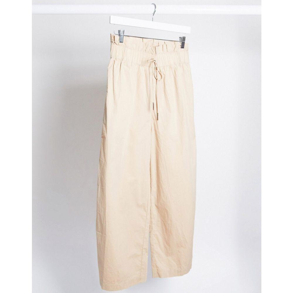 ノイズィーメイ Noisy May レディース カーゴパンツ ボトムス・パンツ【cargo trousers with paperbag waist in beige】Beige