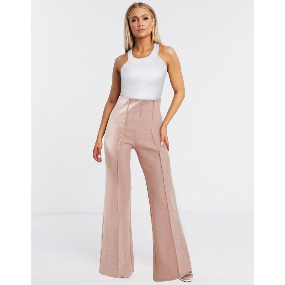AQAQ レディース ボトムス・パンツ 【tailored trousers In light pink】Light pink
