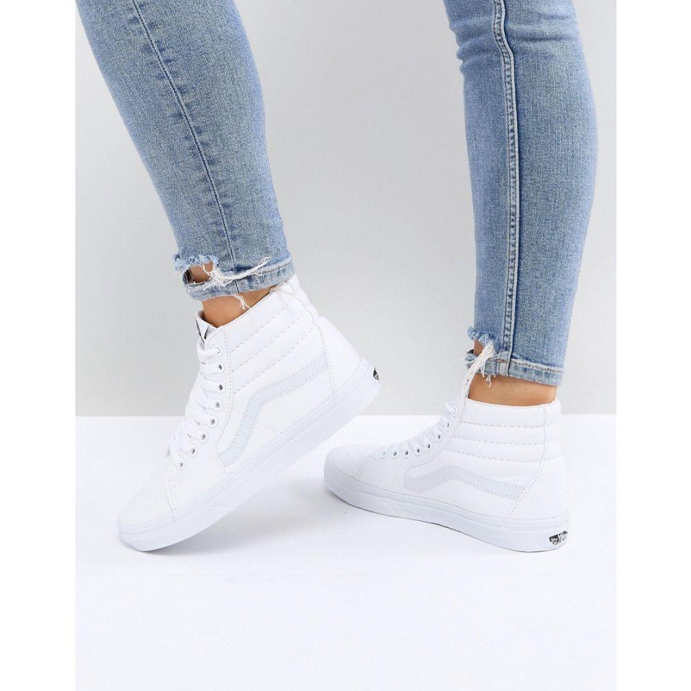 ヴァンズ Vans レディース スニーカー シューズ・靴【Classic Sk8 Hi trainers in all white】White