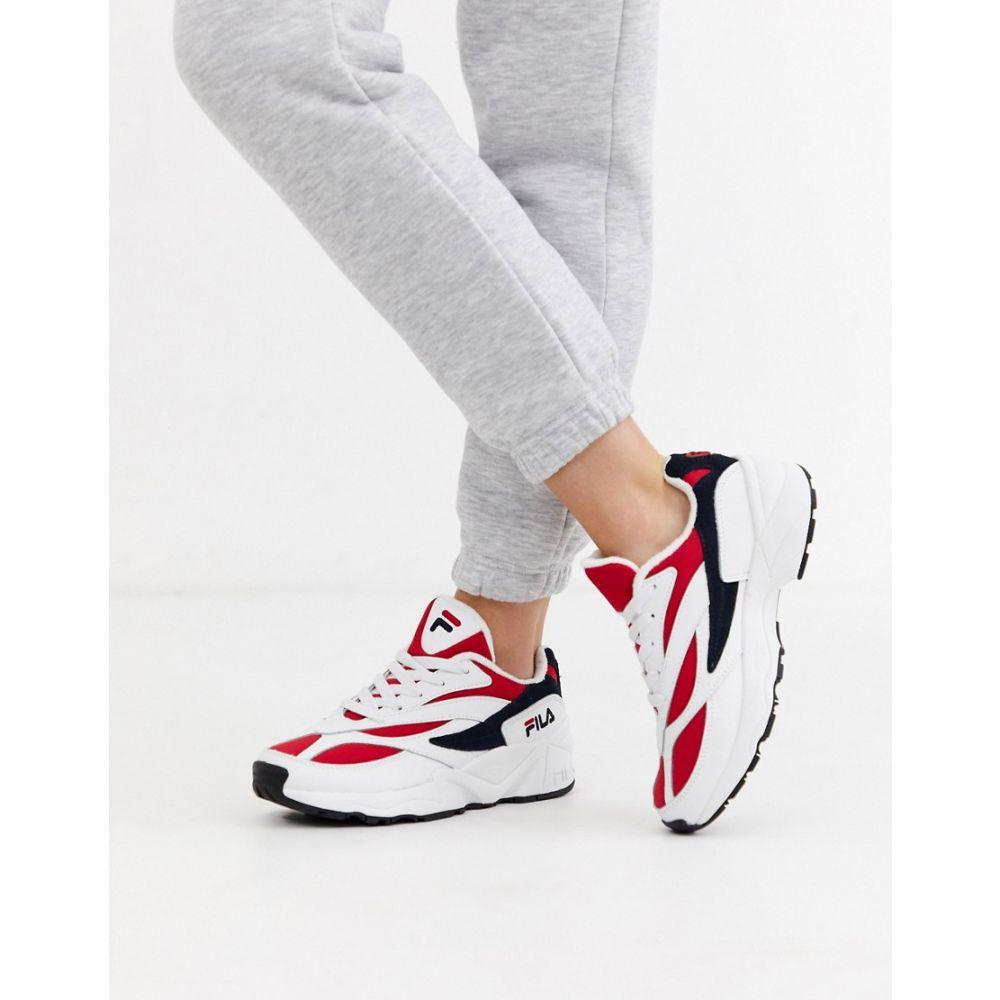 フィラ Fila レディース スニーカー シューズ・靴【venom low trainers】White/navy/red
