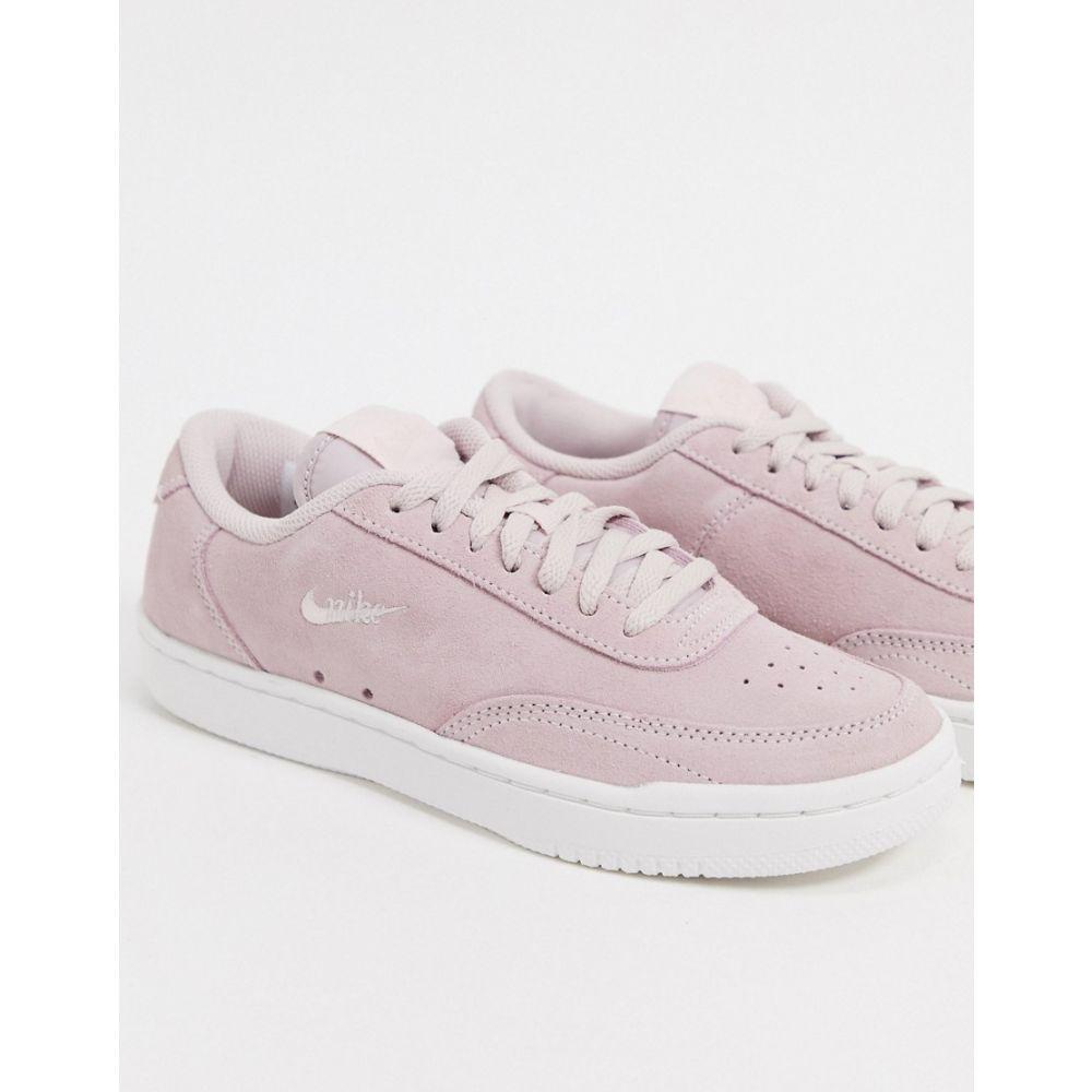 ナイキ Nike レディース スニーカー シューズ・靴【Court Vintage trainers in pale pink suede】Barely rose