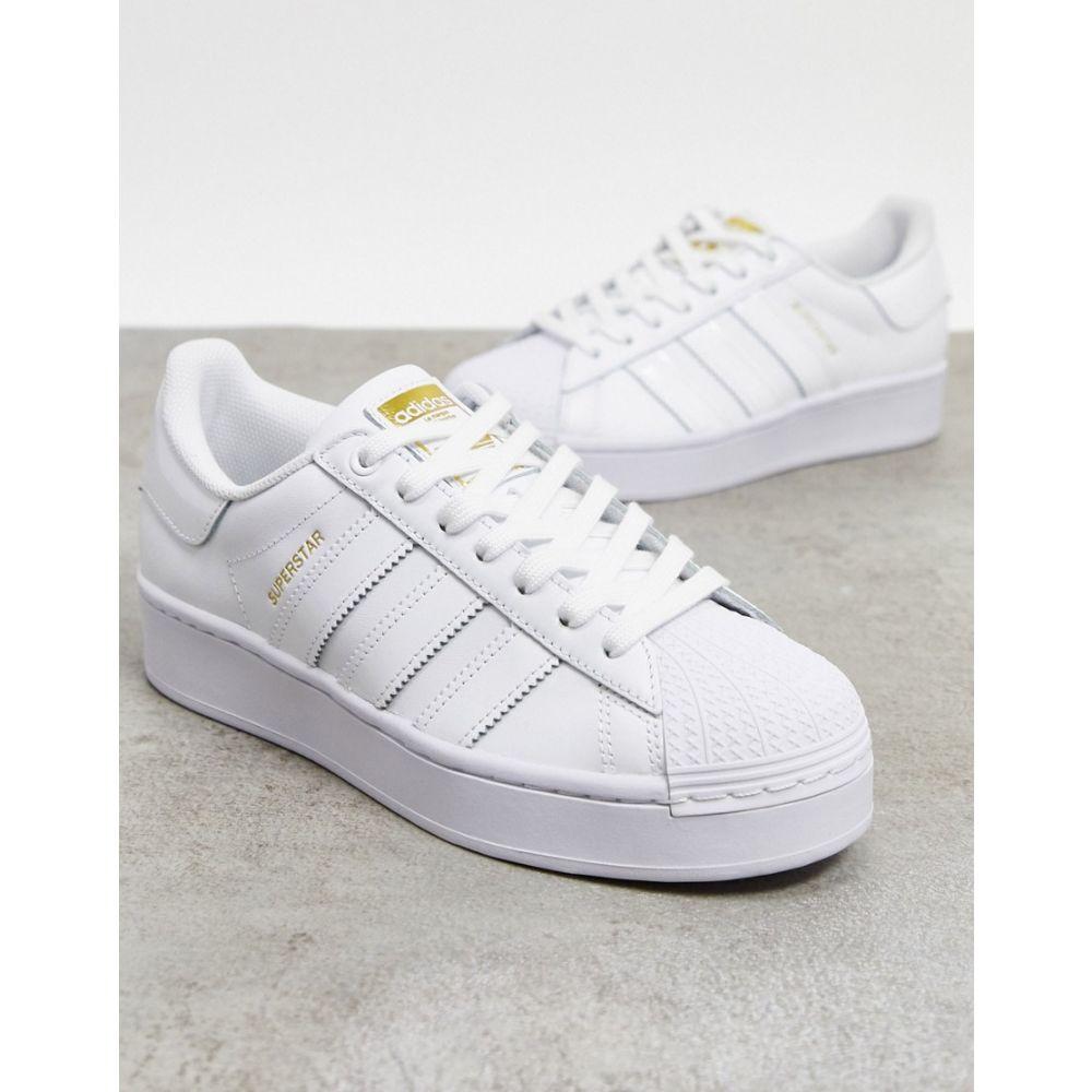 アディダス adidas Originals レディース スニーカー シューズ・靴【Superstar Bold platform trainers in triple white】White