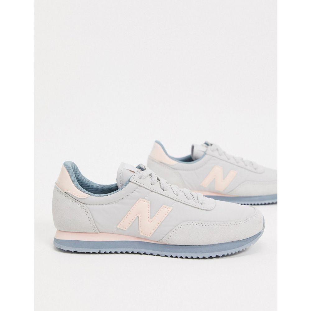 ニューバランス New Balance レディース スニーカー シューズ・靴【720 trainers grey and pink】Grey