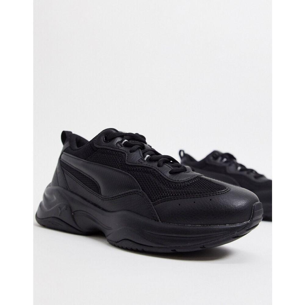プーマ Puma レディース スニーカー チャンキーヒール シューズ・靴【Cilia Chunky trainers in black】Black