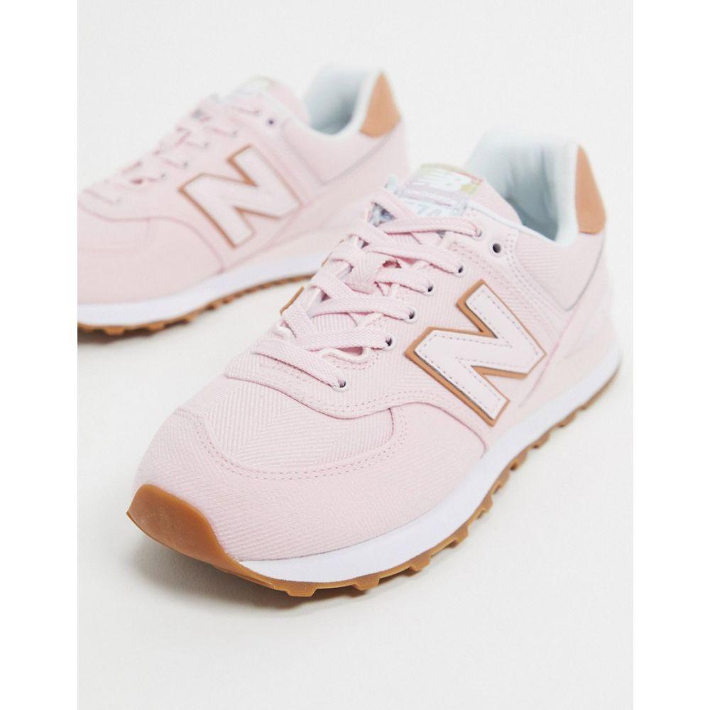 ニューバランス New Balance レディース スニーカー シューズ・靴【574 Mid trainers in pink】Pink