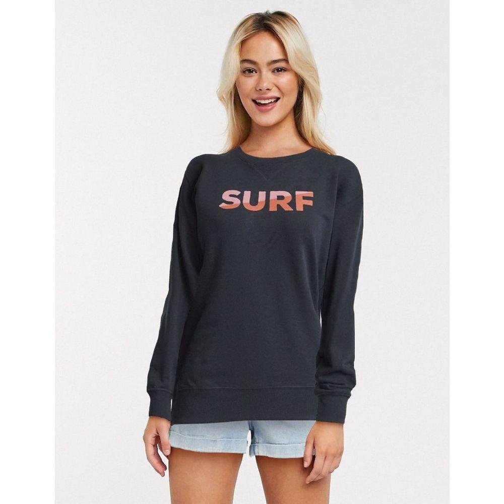 ビラボン Billabong レディース スウェット・トレーナー トップス【Surf sweatshirt in black】Black