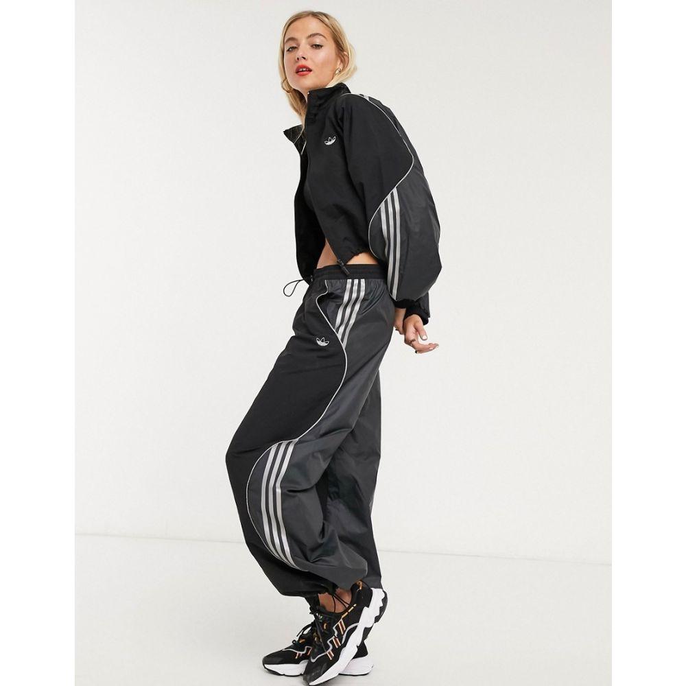 アディダス adidas Originals レディース スウェット・ジャージ ボトムス・パンツ【Fakten track bottoms in black】Black