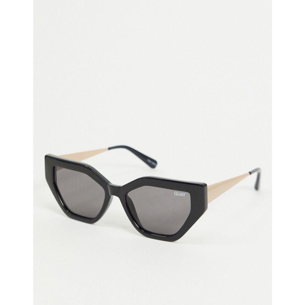 キー オーストラリア Quay Australia レディース メガネ・サングラス 【Vinyl slim cat eye sunglasses in black】Black