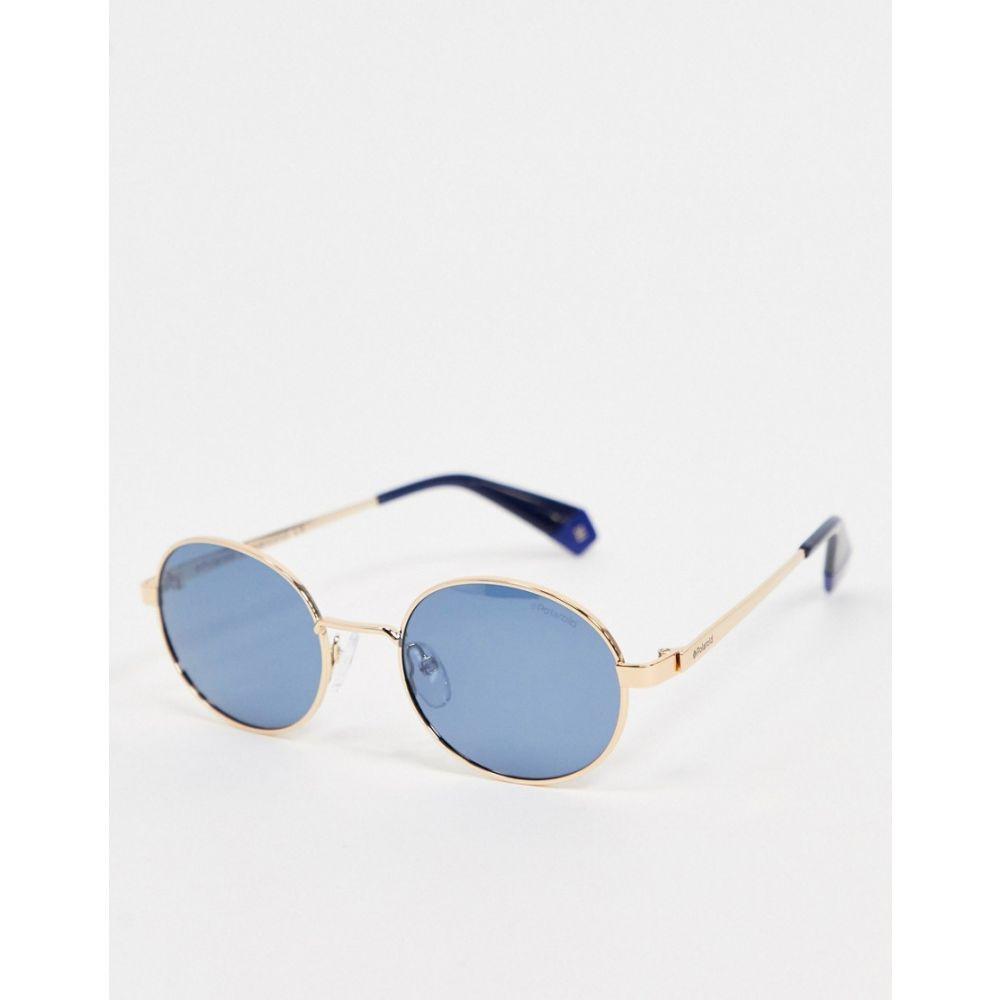 ポラロイド Polaroid レディース メガネ・サングラス ラウンド【micro round sunglasses】Blue