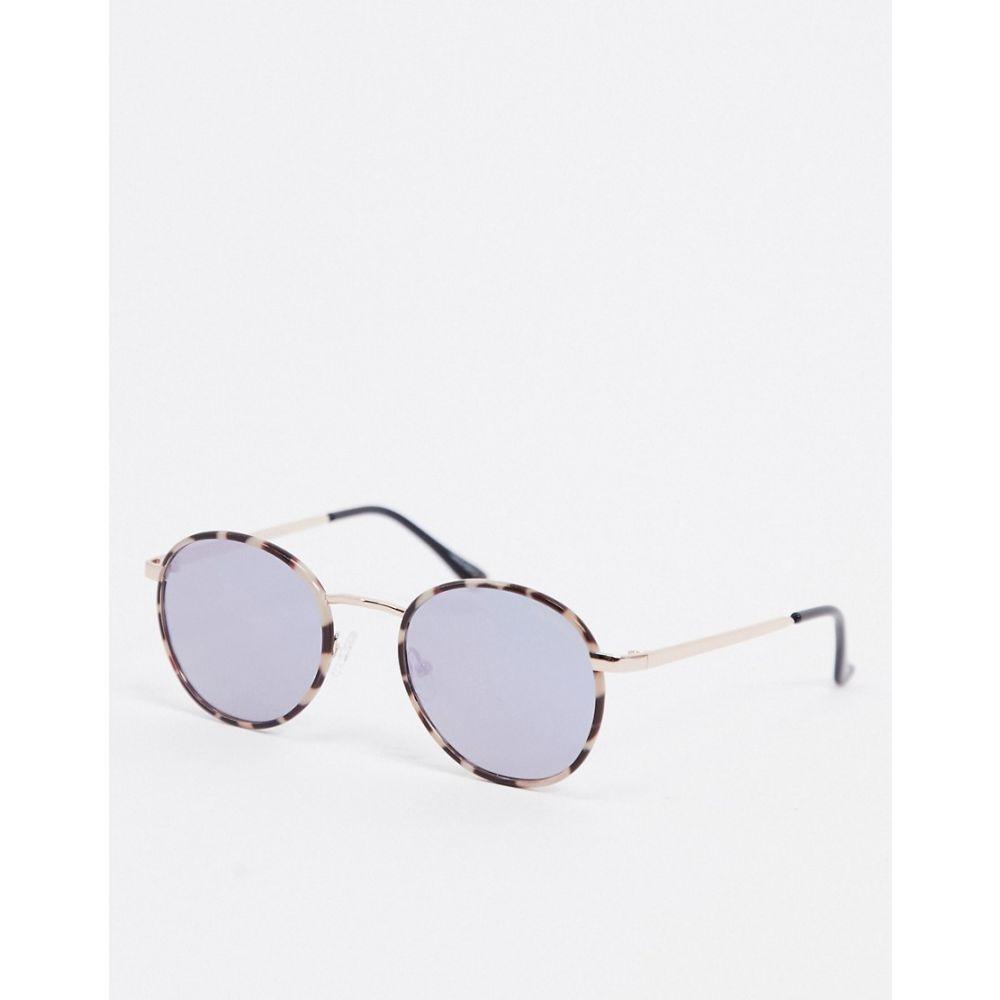 キー オーストラリア Quay Australia レディース メガネ・サングラス ラウンド【Omen round sunglasses in cream tort with blue lens】Milky tort blue