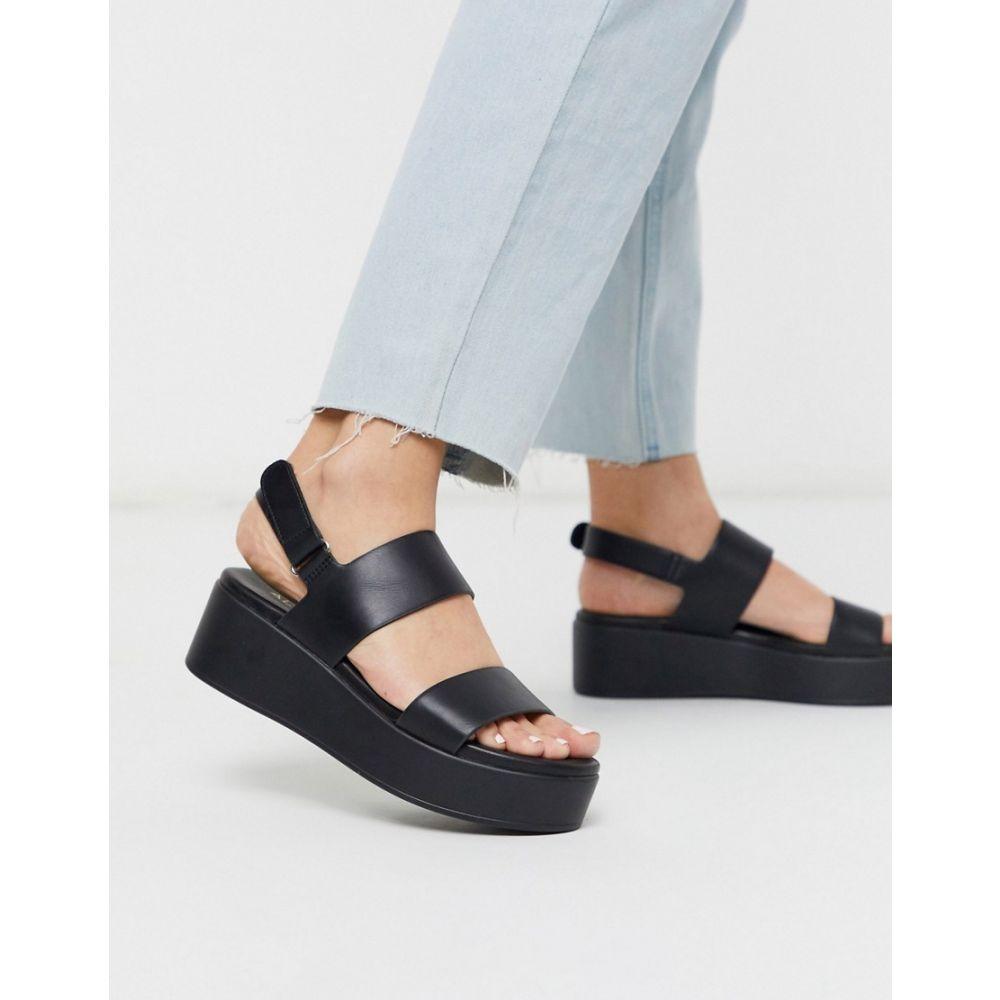 アルド ALDO レディース サンダル・ミュール シューズ・靴【Agrerinia flatform sandal in black】Black leather