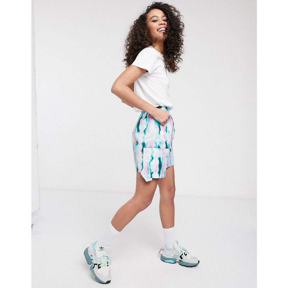 エイソス ASOS MADE IN レディース ミニスカート スカート【KENYA tye dye mini skirt with utility pocket】Woven tie dye