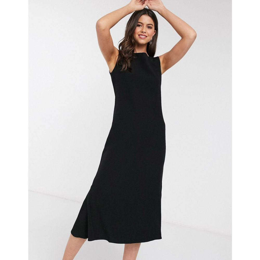 クローゼットロンドン Closet London レディース ワンピース ワンピース・ドレス【Closet fit and flare midi dress in black】Black