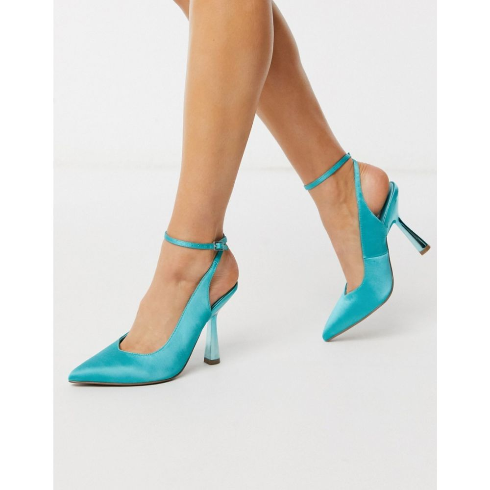 エイソス ASOS DESIGN レディース ヒール シューズ・靴【Protector high heeled shoes in blue】Blue