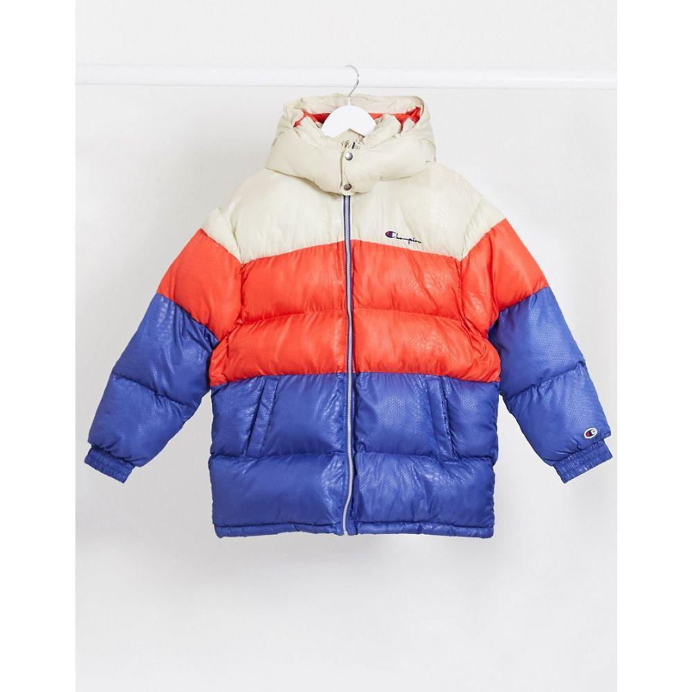 チャンピオン Champion レディース ダウン・中綿ジャケット アウター【logo puffer jacket】Red/purple/beige