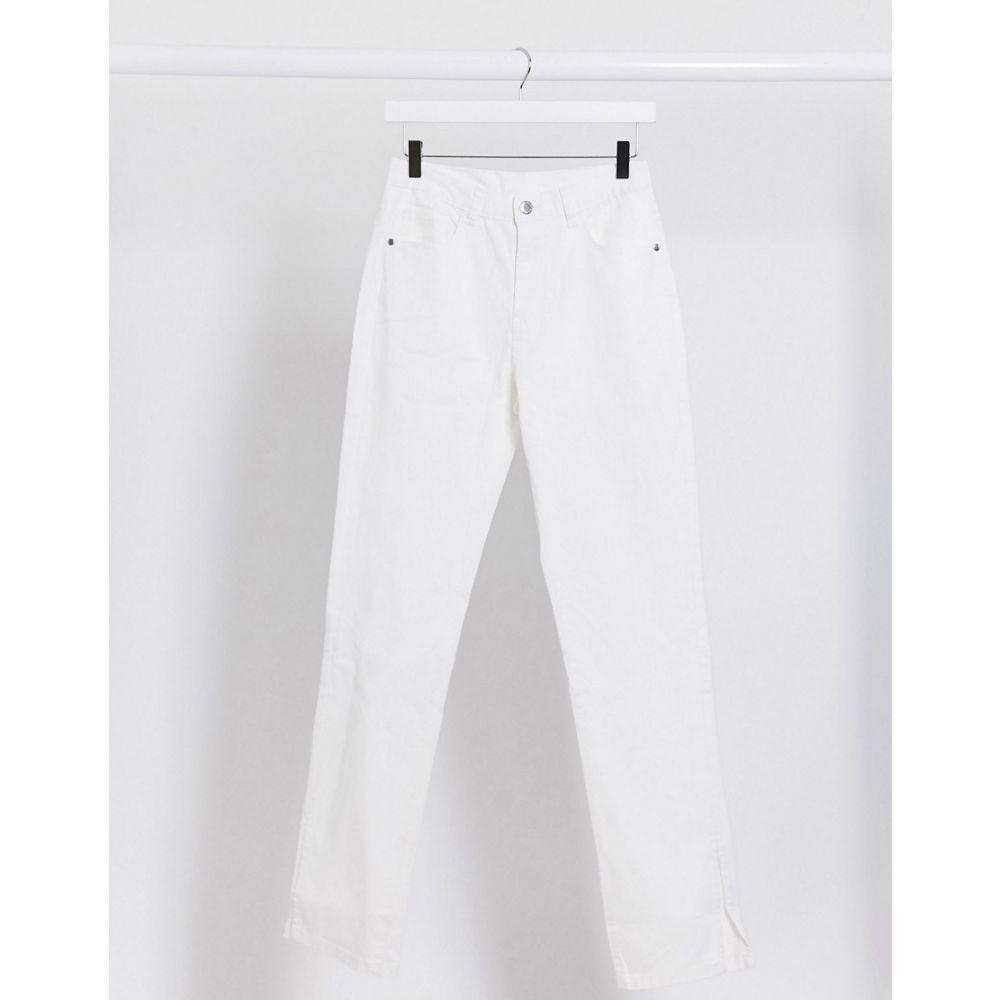 レディース フェム リュクス in waist leg ボトムス・パンツ【high Femme split straight side white】White jean ジーンズ・デニム Luxe