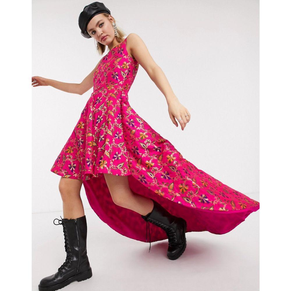 ネサヴァリ Nesavaali レディース ワンピース スケータードレス ミニ丈 ワンピース・ドレス【high low mini skater dress】Pink