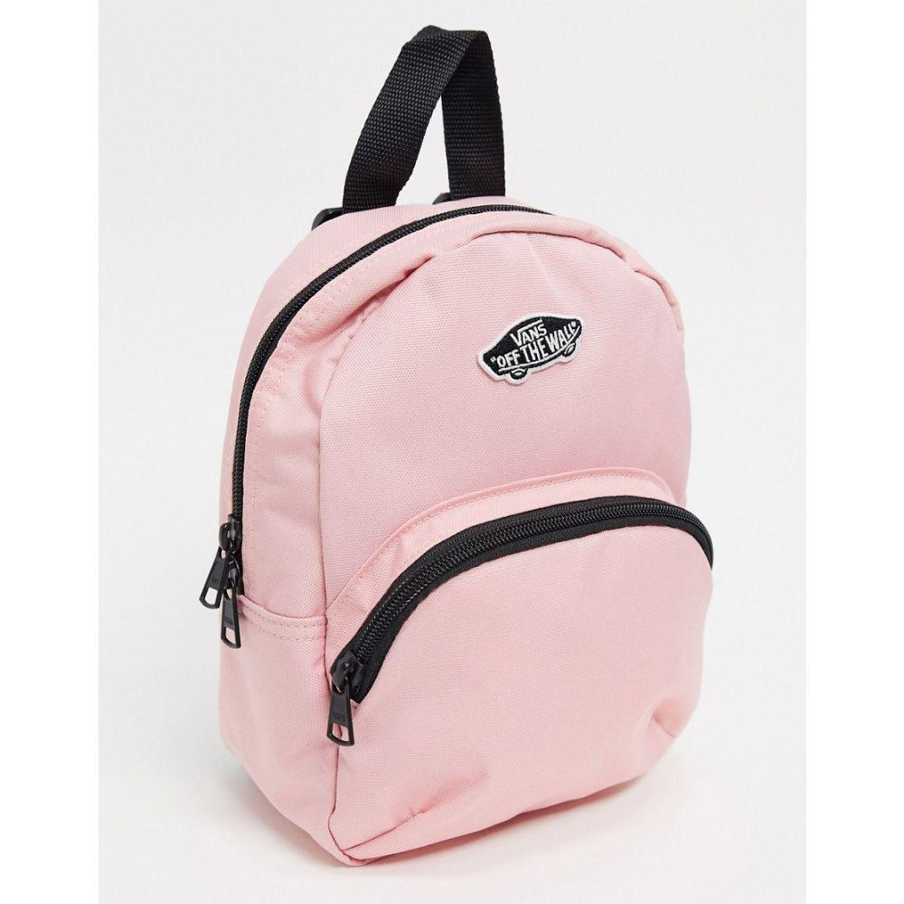 ヴァンズ Vans レディース バックパック・リュック バッグ【Got This mini backpack in pink】Black/lemon tonic