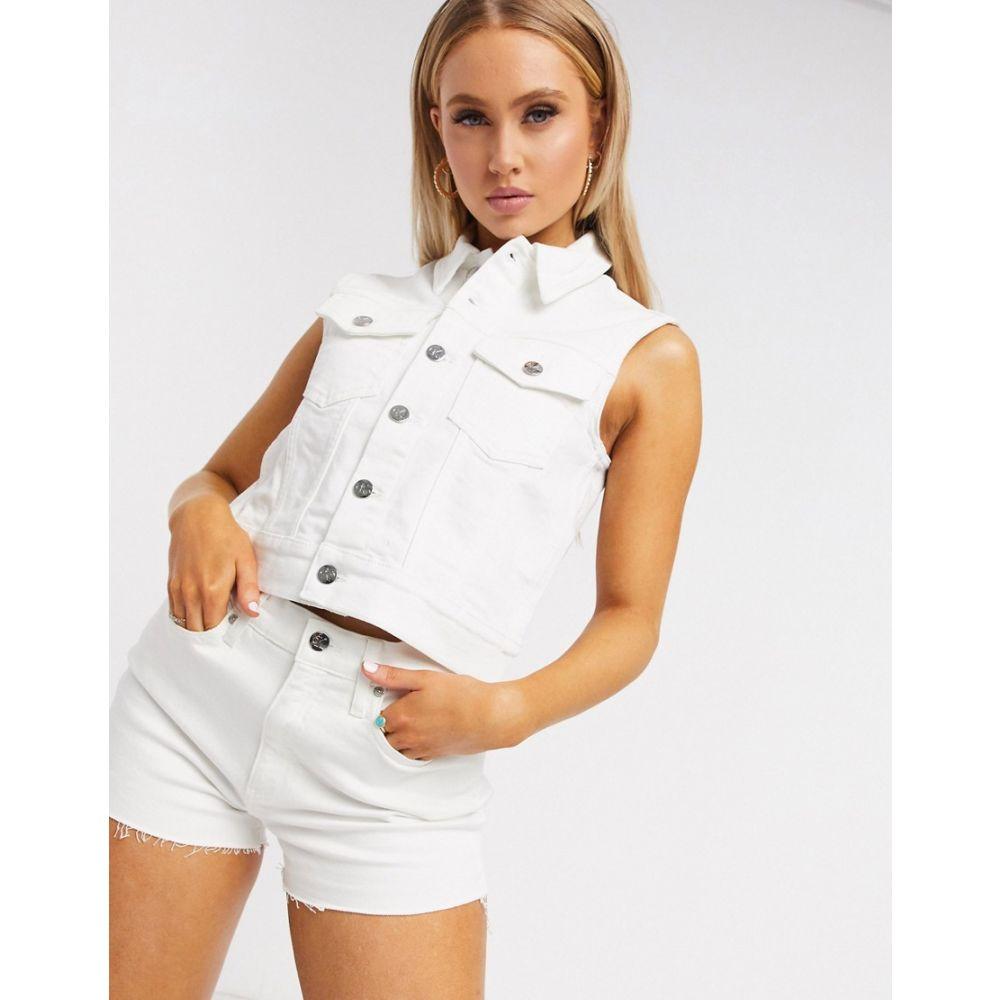 カルバンクライン Calvin Klein レディース ジャケット アウター【denim vest in white】Da white embr