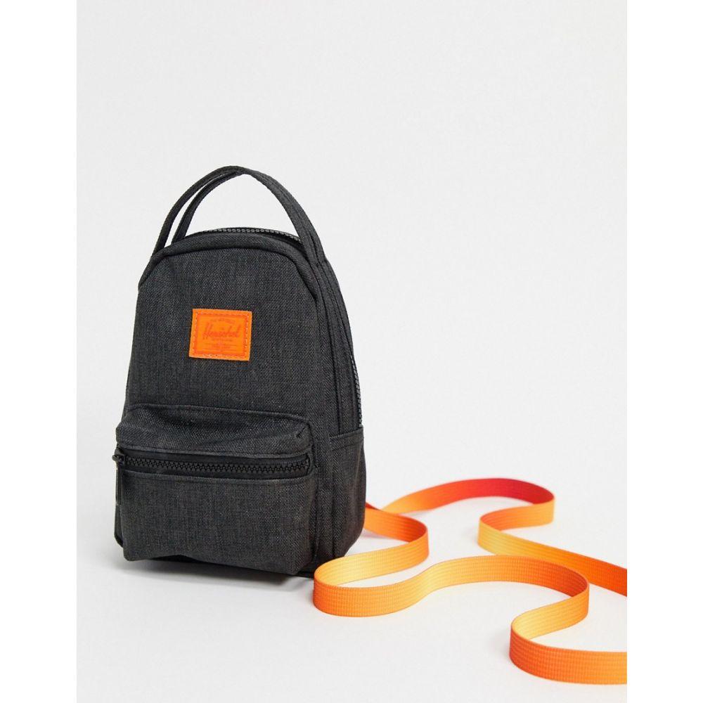 ハーシェル サプライ Herschel Supply Co レディース バックパック・リュック バッグ【Herschel Supply co. Nova mini backpack cross body bag in black and orange】Crosshatch sunset