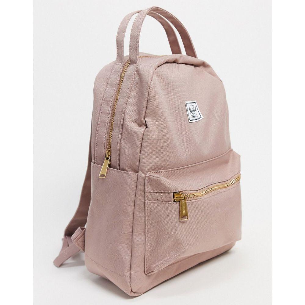 ハーシェル サプライ Herschel Supply Co レディース バックパック・リュック バッグ【Herschel Nova small backpack in pink】Ash rose