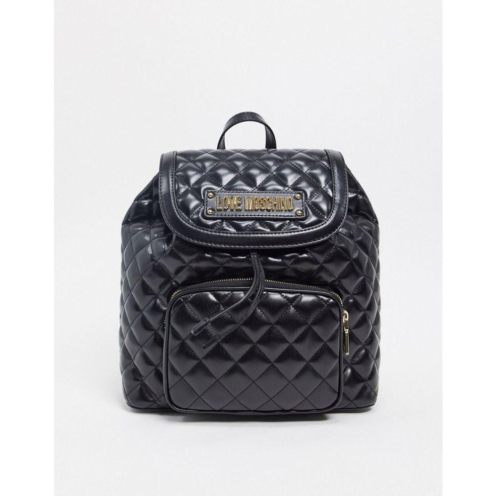 モスキーノ Love Moschino レディース バックパック・リュック バッグ【quilted backpack with front pocket in black】Black