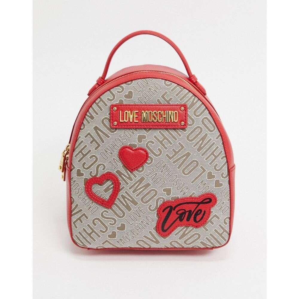 モスキーノ Love Moschino レディース バックパック・リュック バッグ【backpack with patches in red】Red