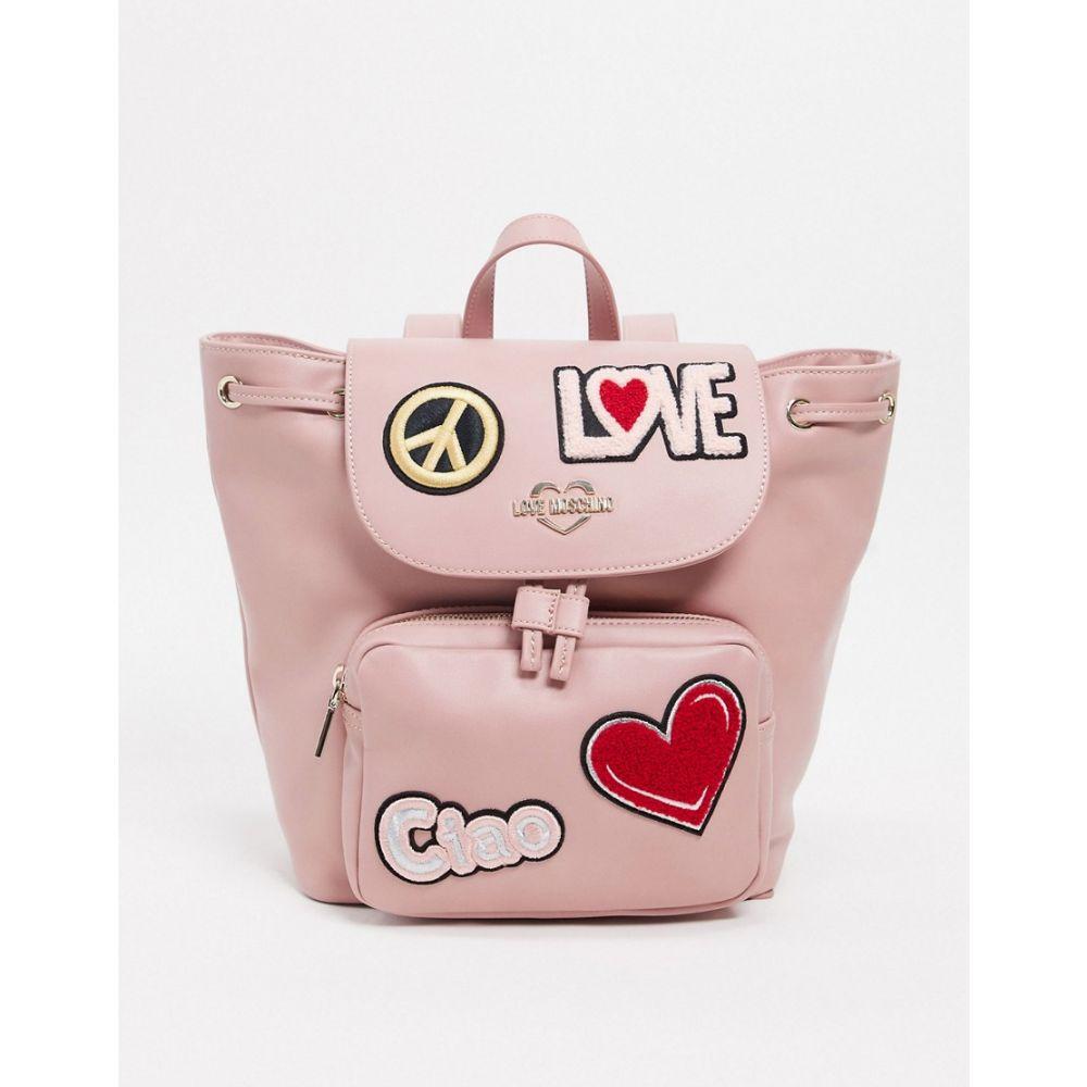 モスキーノ Love Moschino レディース バックパック・リュック バッグ【baclpck with patches in pink】Pink