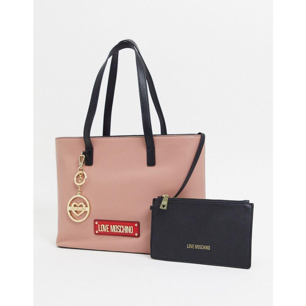 モスキーノ Love Moschino レディース トートバッグ バッグ【shopper bag with key chain】Peo/red/black