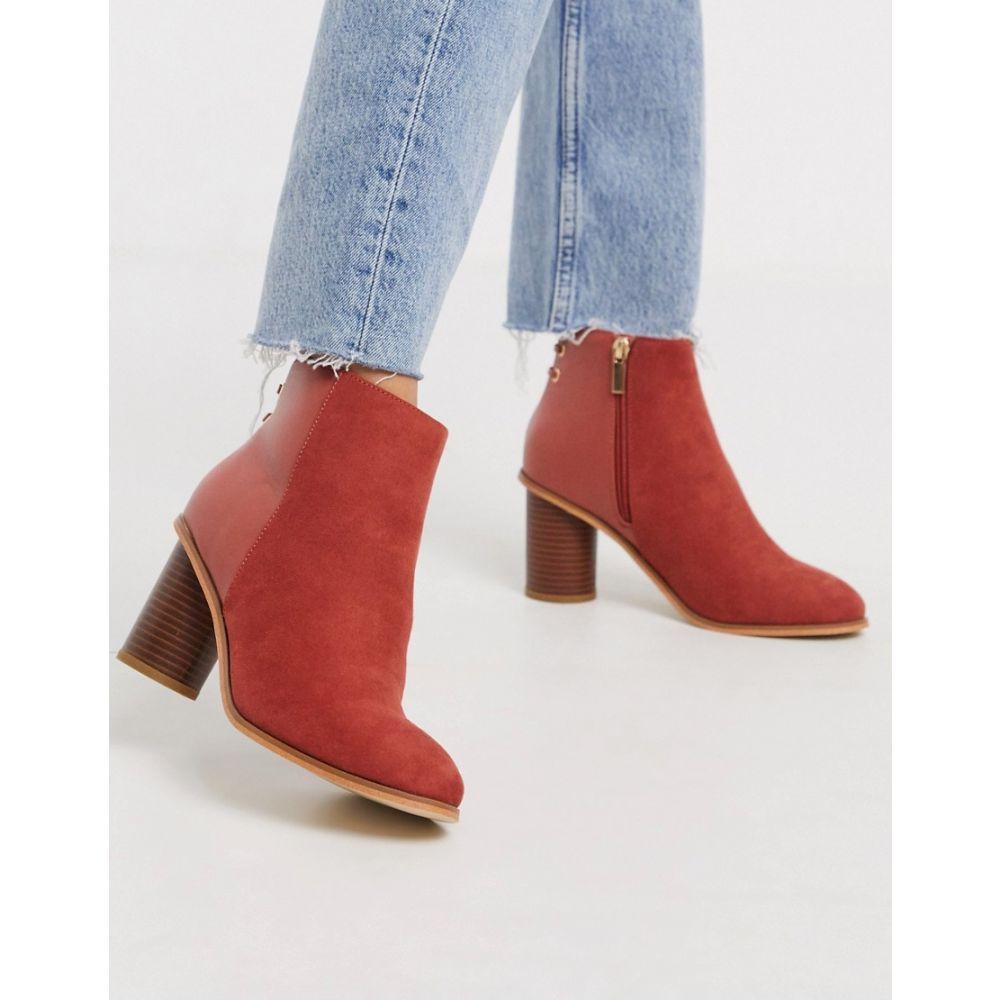 オアシス Oasis レディース ブーツ ショートブーツ シューズ・靴【mid heel ankle boot in rust】Rust