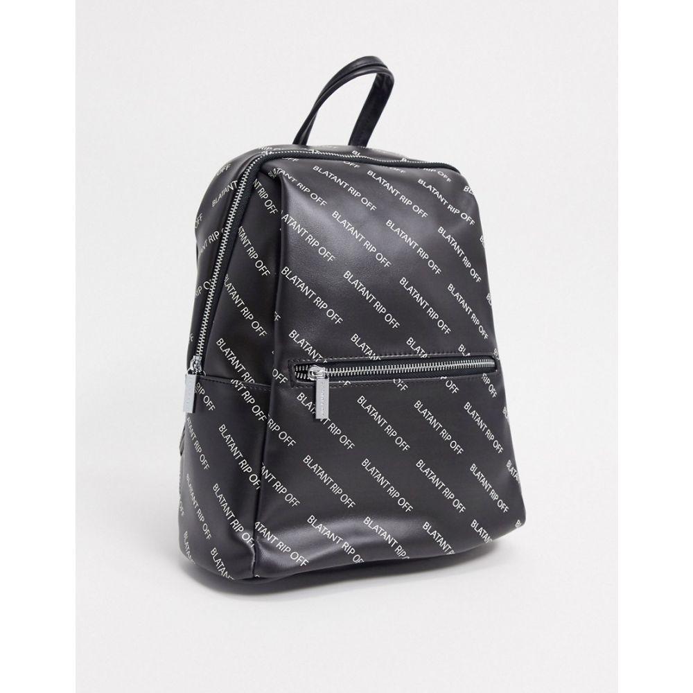 スキニーディップ Skinnydip レディース バックパック・リュック バッグ【blatent rip off backpack in black】Black