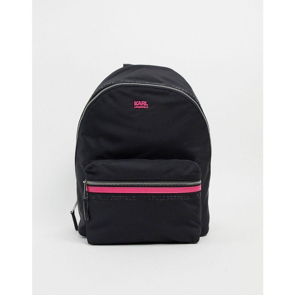 カール ラガーフェルド Karl Lagerfeld レディース バックパック・リュック バッグ【logo detail backpack in black】A black