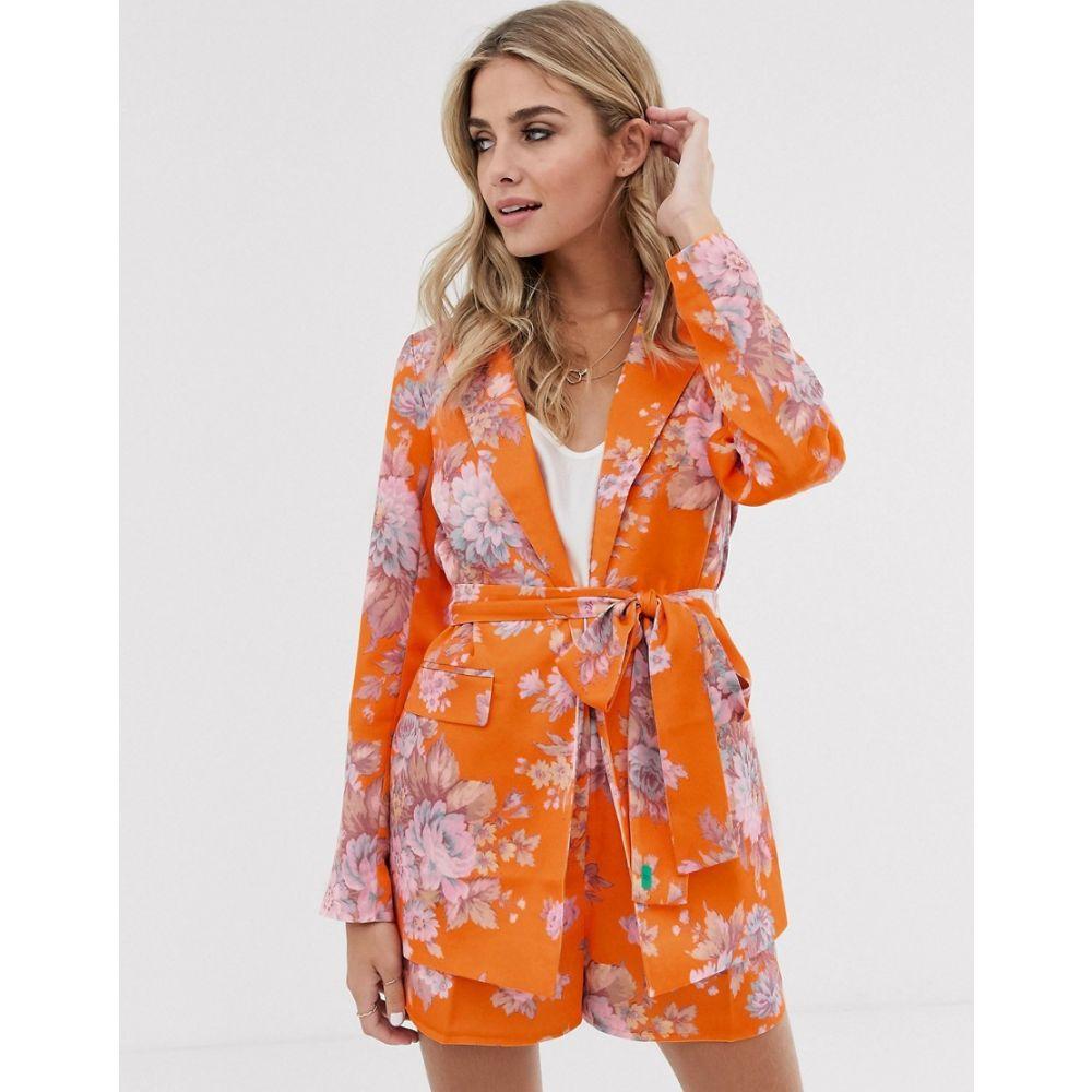 エイソス ASOS DESIGN レディース スーツ・ジャケット アウター【floral suit blazer】Floral