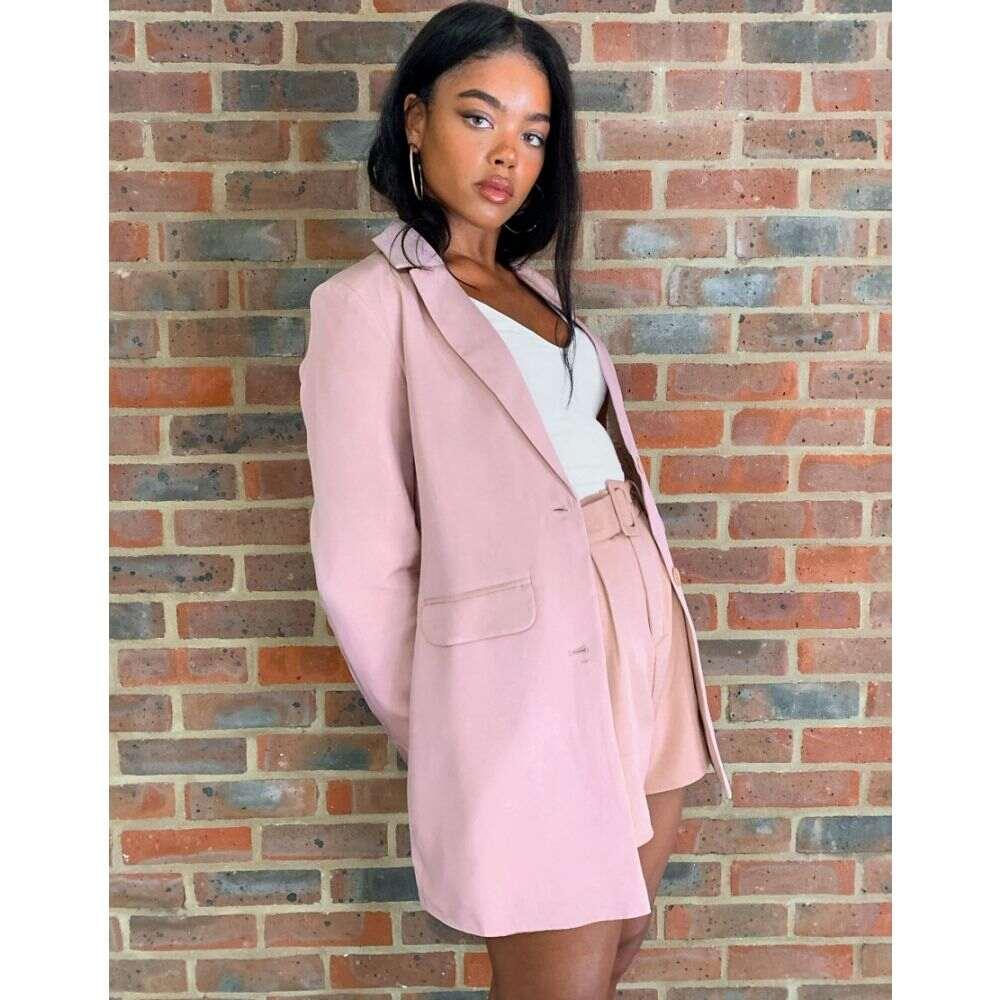 ハートブレーク Heartbreak レディース スーツ・ジャケット ロング アウター【longline blazer suit in dusky pink】Dusky pink