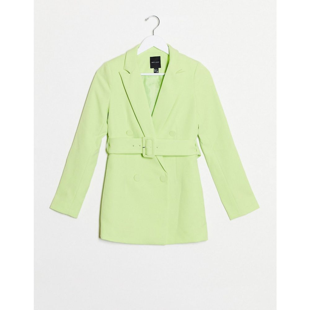 ニュールック New Look レディース スーツ・ジャケット アウター【belted blazer in lime co ord】Lime