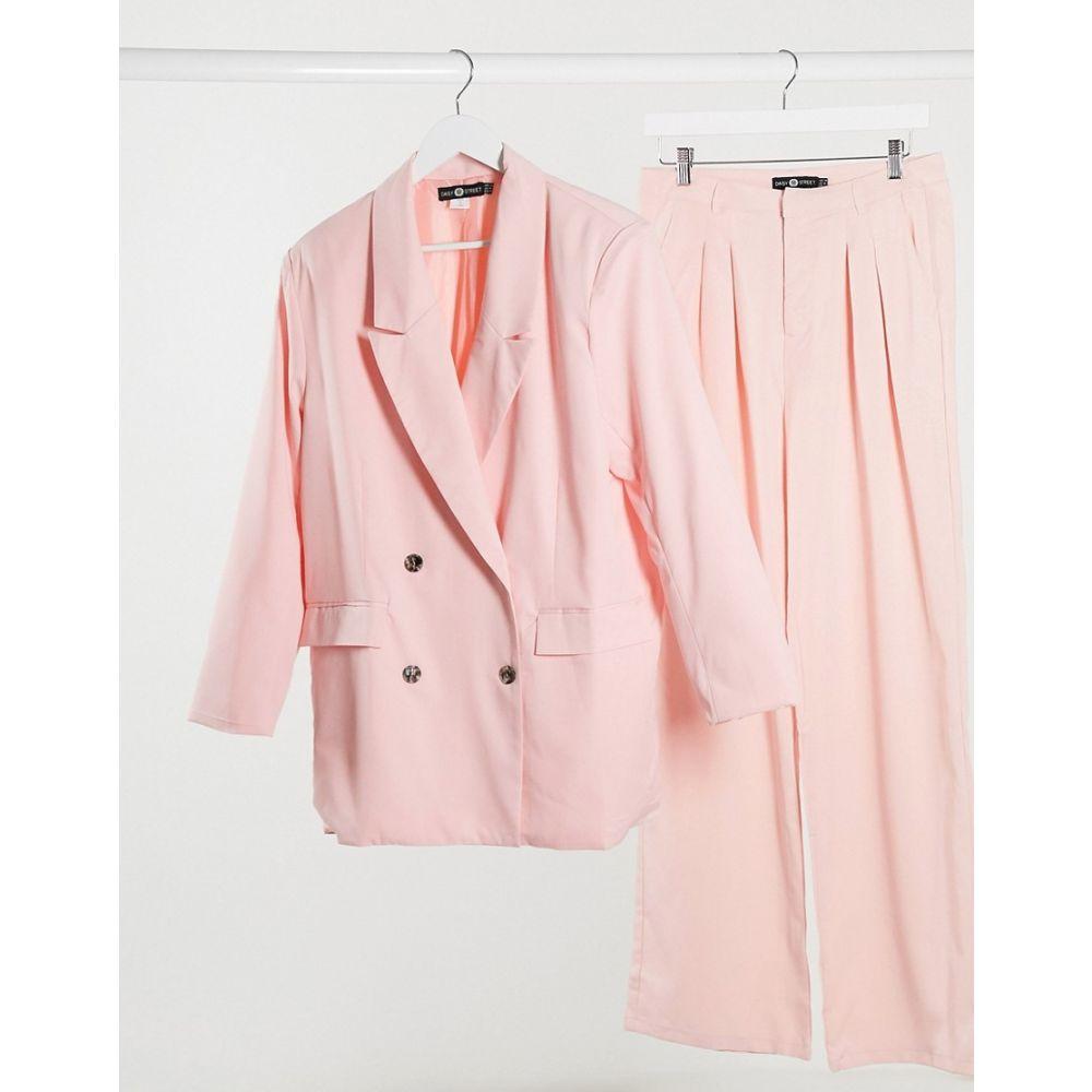 デイジーストリート Daisy Street レディース スーツ・ジャケット ロング アウター【dad blazer longline co-ord】Soft pink