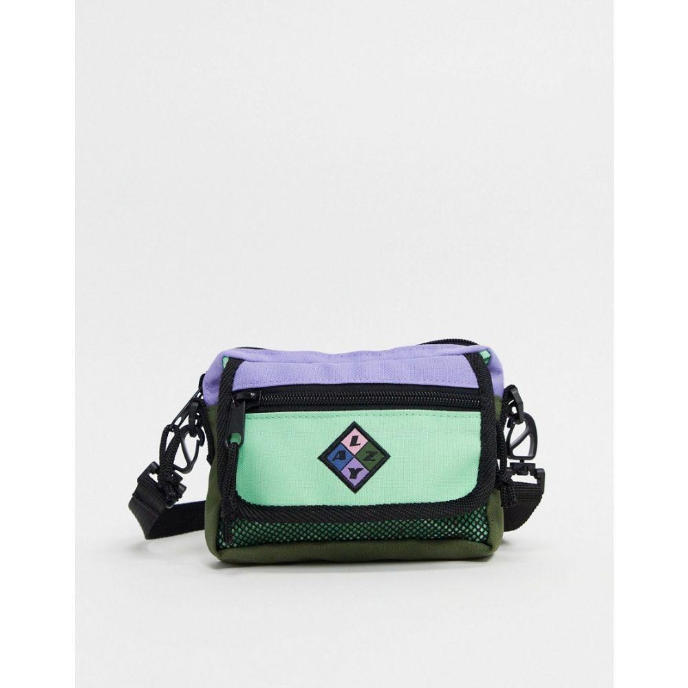 レイジー オーフ Lazy Oaf レディース ショルダーバッグ バッグ【zip flap cross body bag in mint and lilac】Multi