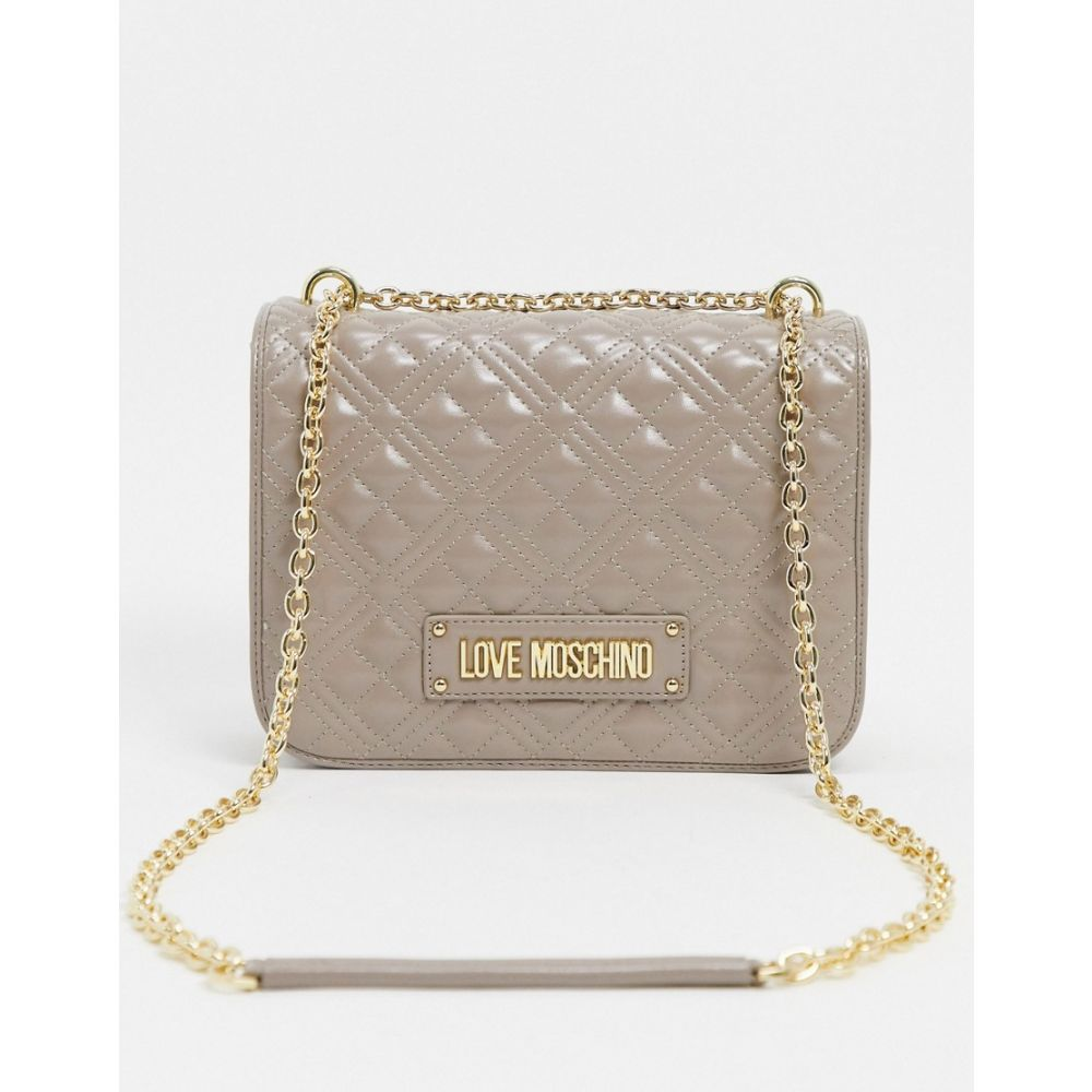モスキーノ Love Moschino レディース ショルダーバッグ バッグ【quilted shoulder bag in taupe】Grey